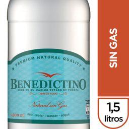 Agua Benedictino Sin Gas Botella 1.5Lt