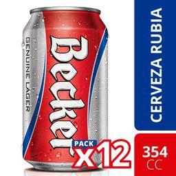 Cerveza Becker 350 mL x 12