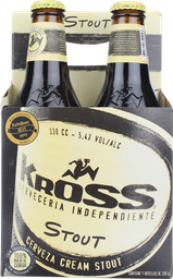 Cerveza Kross Stout, 4 X 330 Ml (No Retornable)