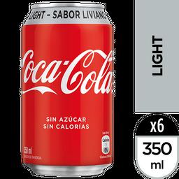 Coca-Cola Light Gaseosa Lata Pack 6 Und