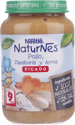 Picado Nestlé Naturnes Pollo, Zanah Y Arroz, 215G