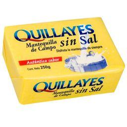 Mantequilla Quillayes, Sin Sal, Pan 250 G