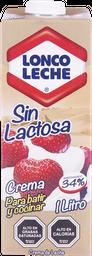 Crema de Leche Loncoleche sin Lactosa Caja 1 l