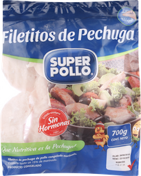 Filetito De Pechuga De Pollo, Congelada Super Pollo 700 Gr