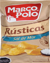 Papas Fritas Marco Polo Rústicas Sal de Mar 110 g