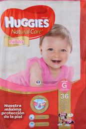Pañal Huggies N. Care Niñas G, 36U (9 A 12.5Kg)
