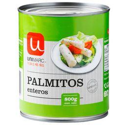 Palmitos Enteros Unimarc 800 G