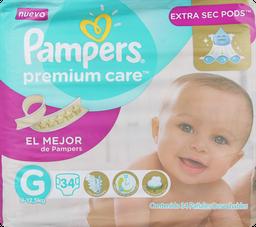 Pañal Premium Care Pampers G, 34 U.