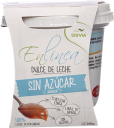 Dulce de Leche Enlínea 0% Azúcar,  380 g