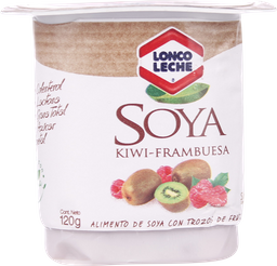 Alimento de Soya Loncoleche Trozos  Frambuesa y Kiwi 120 g