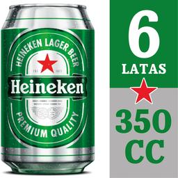 Cerveza Heineken, Lata 350 Ml X 6 U