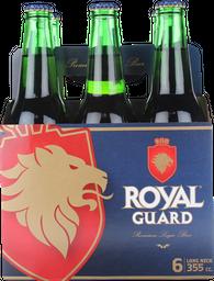 Cerveza Royal Guard, 355 Ml X 6U (No Retornable)