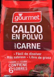 Caldo Carne En Polvo Gourmet, 6 U