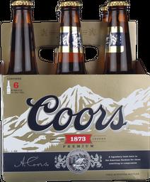 Cerveza Coors, 355 Ml X 6 U (No Retornable)