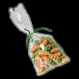 Bolsa de merengues forma de zanahoria