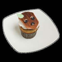 Cupcake de vainilla con chips de chocolates