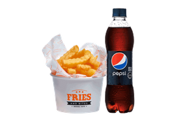 Papas Fries + Bebida 500 cc