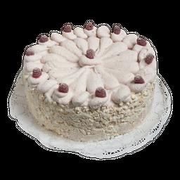 Torta helada de merengue frambuesa