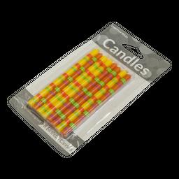 Velas de colores 8 unidades