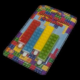 Velas tipo legos 4 unidades