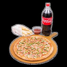Pizza 3 ingred. Bebida 1.5L