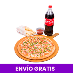 Pizza 3 ingred. Bebida 1.5L