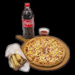 Combo Rappi 2 (3 pizzas +Bebida 1,5L+Caesars Bread +Crazy Sauce)