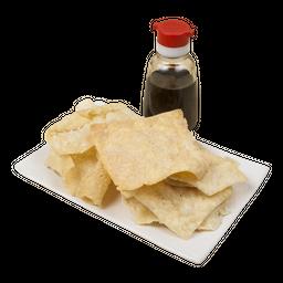 Hojas de Wantán Frito (10 Unid)