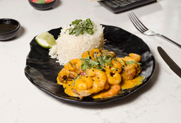 Pescado Curry Camaron