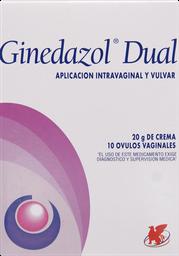 Antimicoticos Antiinfecciosos Ginedazol Dual (Ovulo+Crema)