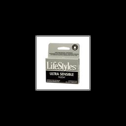 Condones LifeStyles Ultra Sensible Nuda 3 unidades