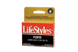 Preservativos Lifestyle Forte Lubricados 3 Preservativos
