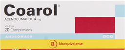 Anticoagulantes Coarol Com.4Mg.20