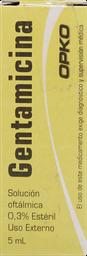 Medicamentos Oftamologicos Gentamic.Sol.Oft.0,3%5Ml*