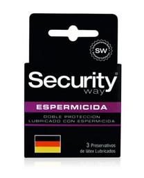 Security Preservativos Y Accesorios Espermicida X3