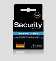 Preservativos Y Accesorios Security Retardante X3