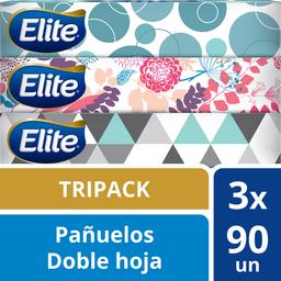 Pañuelo Desechable Elite Doble Hoja 90 U x 3