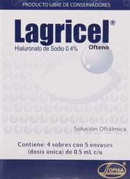 Medicamentos Oftamologicos Lagricel Sol.Oft 0.4%20Ds