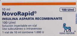 Diabetes Inyectable Novorapid Amp.100Ui/Ml.1