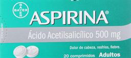 Aspirina 20 Comprimidos (500 mg)