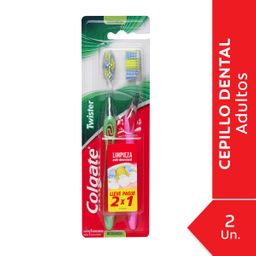 Cepillo Dental Colgate Twister Fresh Medio 2Un