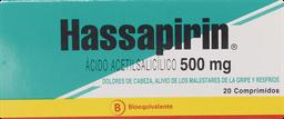 Dolor Y Fiebre Hassapirin Com.500Mg.20
