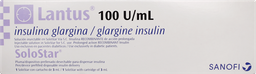 Diabetes Inyectable Lantus Sstar Cart100U.3Ml