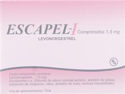Anticonceptivos Escapel-1 Com.1.5Mg.1