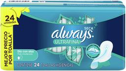 Toalla Higiénica Always Ultrafina Suave Con Alas 24 U