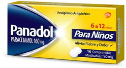 Dolor Y Fiebre Panadol Ped.Com.160Mg.16