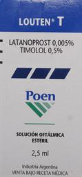 Medicamentos Oftamologicos Louten T Sol.Oft. 2,5Ml