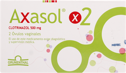 Antimicoticos Antiinfecciosos Axasol 2 Ovulos 500mg