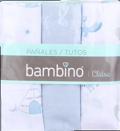 Textil Infantil Bambino Panal Celeste X3