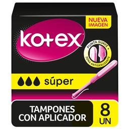Tampón Higiénico Kotex Evolution Super 8 Un
